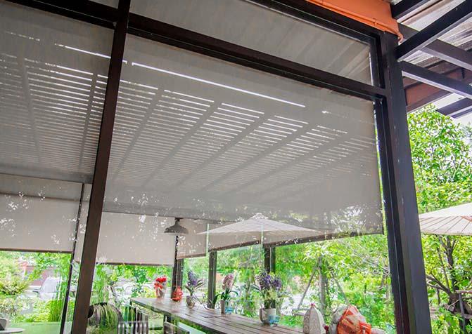 Roof shutter cover