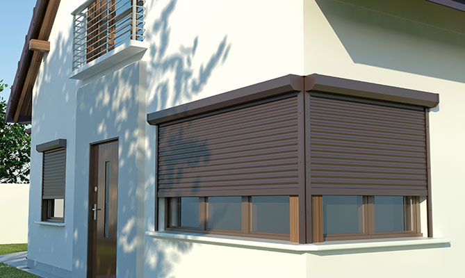 Square Electric Roller shutters